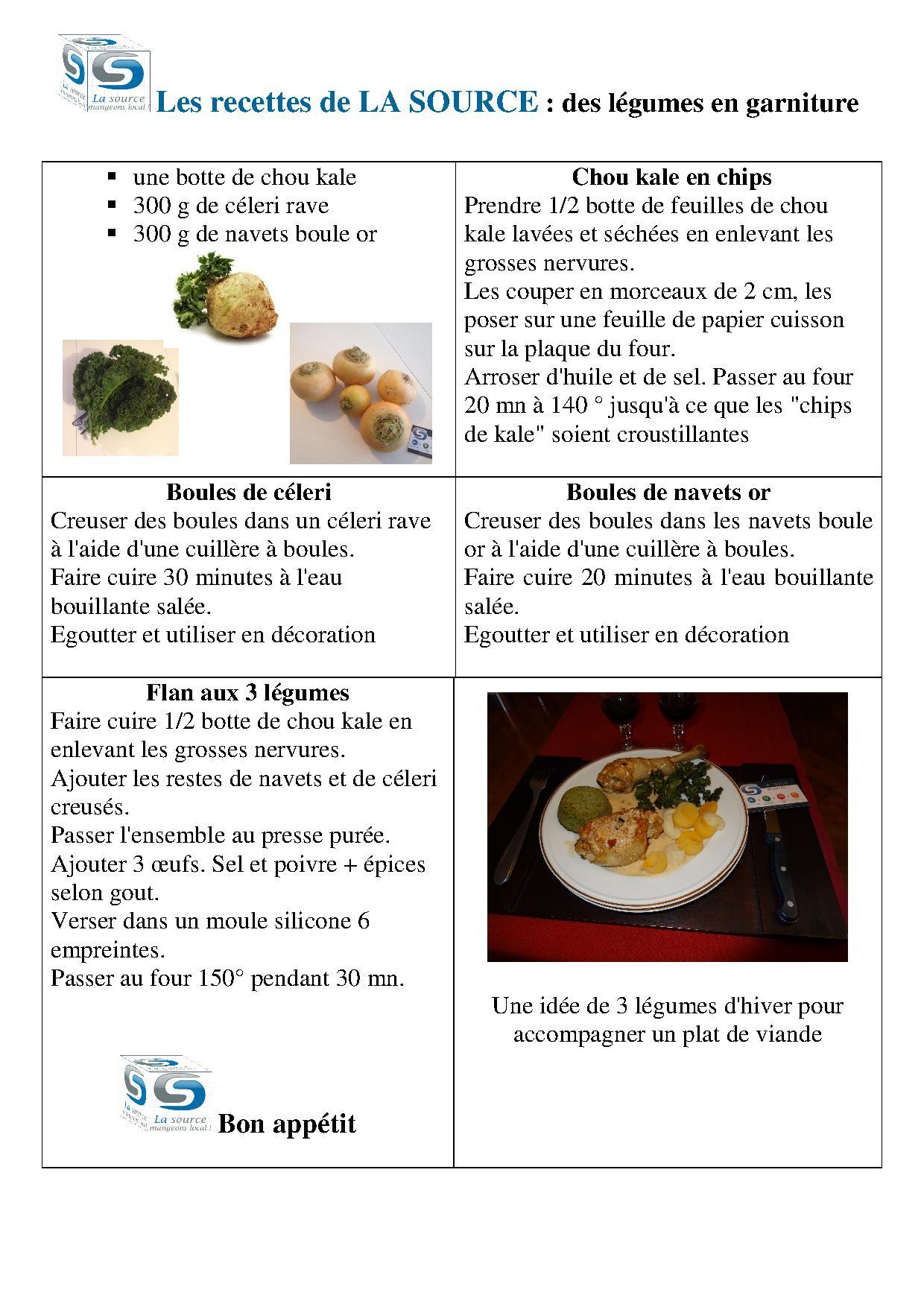 recette légumes d'hiver, velouté ou macedoine - la source normandie
