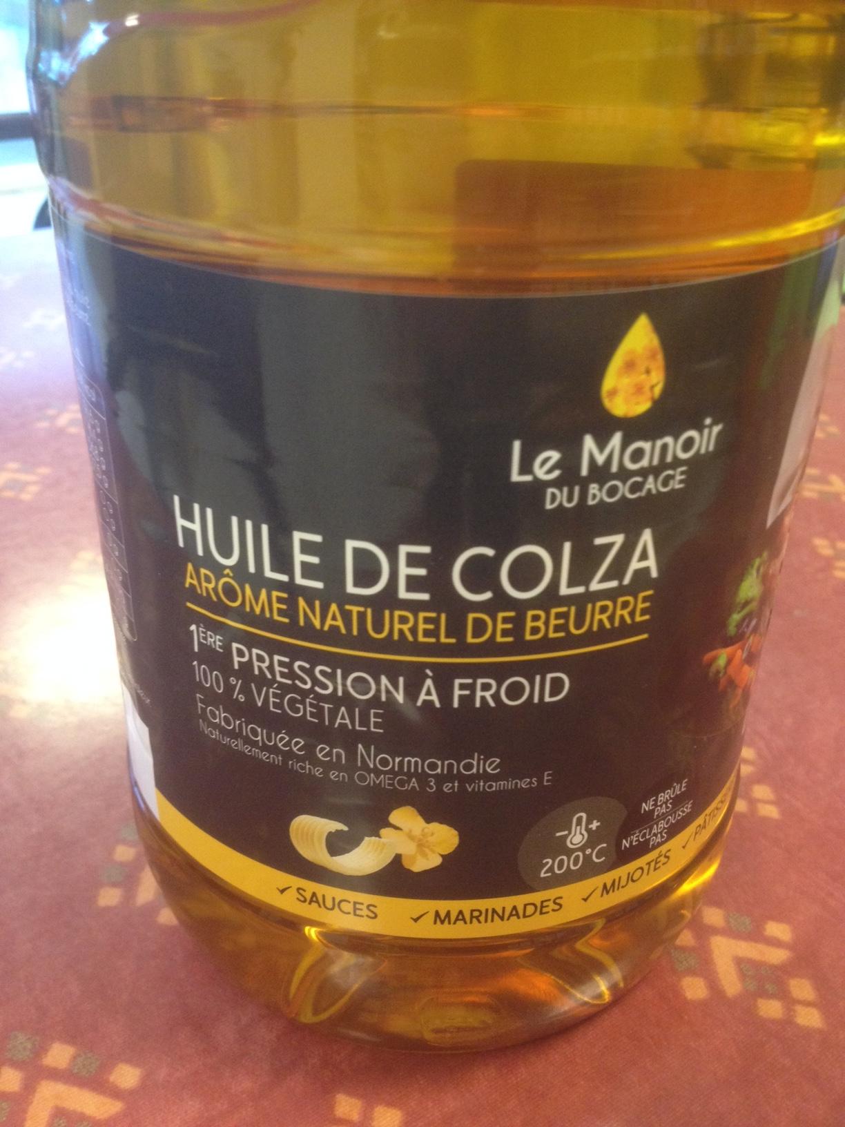 huile colza beurre